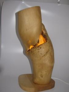 木の灯り(花器兼用)