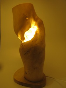 木の灯り (花器兼用)     ¥25,000-