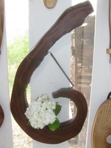 欅の洞の壁掛け花器     3,500円