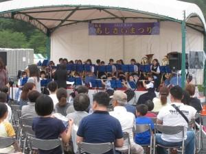 青葉中学吹奏楽部  開幕イベント