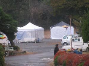 のんびりぼっこ広場のテント